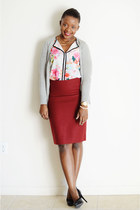 JCrew skirt - Old Navy cardigan - H&M top - Ralph Lauren pumps