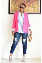 Macys blazer - sam edelman shoes - Marshalls jeans - Forever 21 shirt