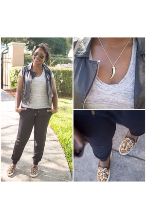 black Express pants - Target t-shirt - sam edelman sneakers
