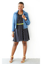Bar III dress - Loehmans jacket - JCrew belt - sam edelman sandals