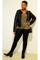 JC Penney jacket - Vince Camuto boots - Zara bag - Zara t-shirt - INC pants