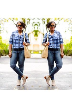 blue jeans - Express shirt