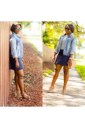 blue JCrew skirt