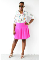 JCrew skirt - Nine West shoes - Macys shirt