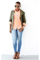 Express jeans - Old Navy jacket - Old Navy shirt - Chinese Laundry sandals