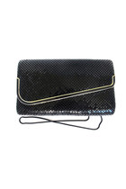 Black Sequin Vintage Clutch Bag