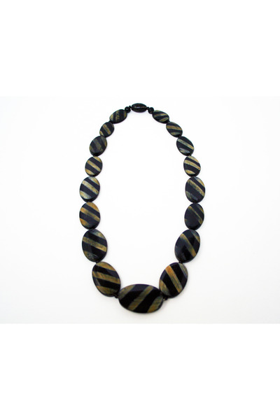wood Ray Banack and Sack necklace