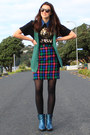 Ruby-boots-karen-walker-sunglasses-vintage-skirt-vintage-cardigan