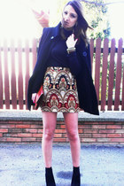 handmade skirt - Zara coat