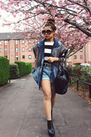 jacket - shorts - wedges