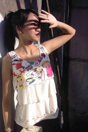 kiddie print blouse
