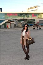 bdba blazer - Louis Vuitton bag - DIY skirt - BLANCO blouse - Zara heels - Ray B