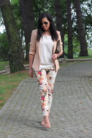 Zara blazer - Zara pants - Stradivarius sandals