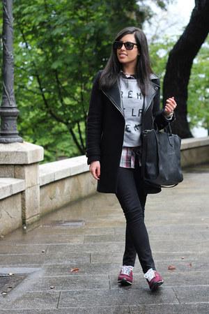 Zara coat - BLANCO shirt - Zara bag - Zara pants - Stop&walk sweatshirt