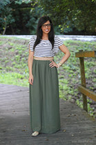 own design skirt - Zara belt - H&M t-shirt - firmoo glasses - Zara sandals