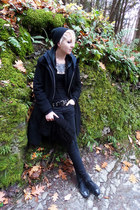 black Lovesick jeans - black Larry Levine jacket - black Charlotte Russe scarf