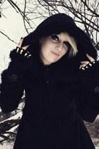 black Pyon Pyon coat - black Nanxson gloves