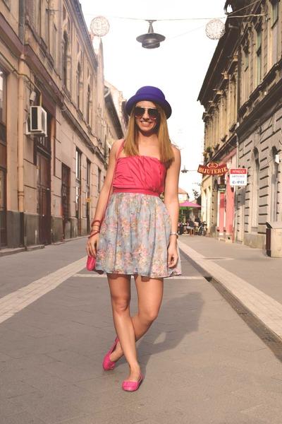 summer is mine Raluca Burtea dress - H&M hat - New Yorker bag - H&M glasses