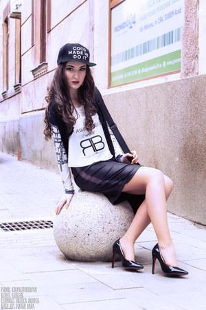 black Raluca Burtea skirt - black Raluca Burtea cardigan