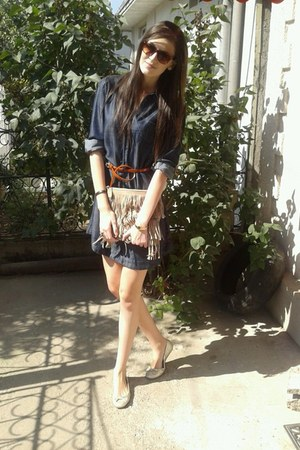 Mexx dress - hm bag - Danys sunglasses - Mexx belt - Ma Eva flats - q&q watch