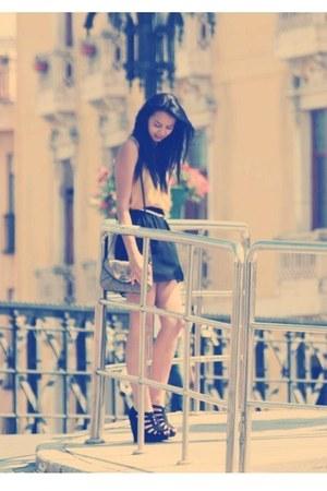new look shoes - Sfera bag - Stradivarius skirt - Zara belt
