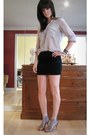 Silver-bcbg-generation-blouse-black-cynthia-steffe-skirt