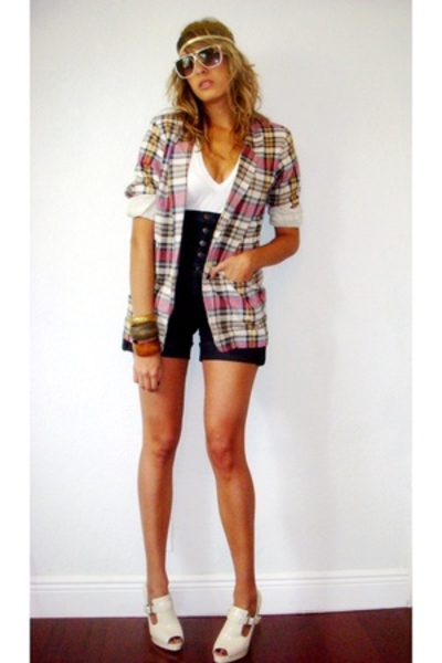 blazer - shorts - shoes