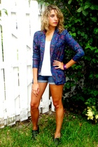 vintage blazer - f21 shorts - Steve Madden shoes