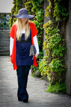 studded Primark purse - closet dress - flare A wear jeans - BikBok top