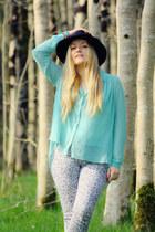 aquamarine Primark blouse