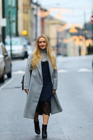silver Sheincom coat