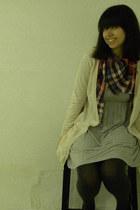 H&M cardigan - H&M dress - H&M scarf - H&M tights