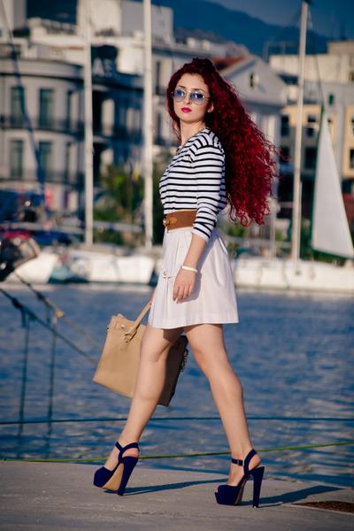 Burberry sunglasses - Zara skirt - Steve Madden heels