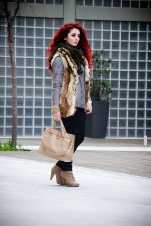 Mango sweater - Zara boots - vintage scarf - OASAP bag