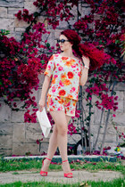 Zara top - Badgley Mischka shoes - dior sunglasses