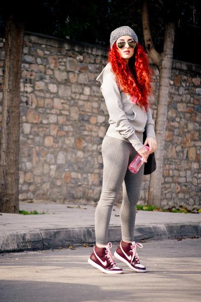 nike sweatshirt - H&M Sport leggings - Mango bag - nike sneakers
