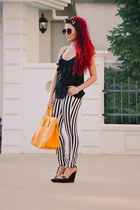 asos bag - Topshop pants - Burberry wedges