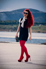 Black-vintage-dress-ruby-red-wolford-tights-deep-purple-dior-sunglasses