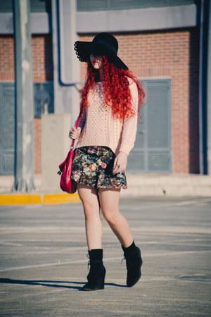 Zara boots - asos hat
