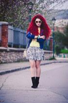 Zara sweater - vintage skirt