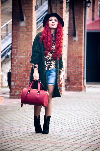 Zara cardigan - Sheinside shirt - Mango shorts
