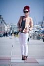 Sheinside-blazer-prada-sunglasses-christian-louboutin-pumps-zara-blouse