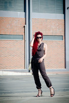 Prada sunglasses - Zara sandals - Sisley romper