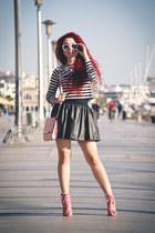 bubble gum Oscar de la Renta shoes - black Zara skirt