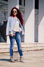Silver-zara-shoes-light-blue-zara-jacket-white-mango-sweater