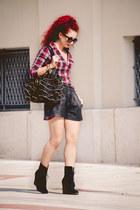 Moschino bag - Zara boots - Topshop shirt - Prada sunglasses
