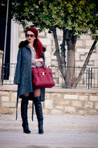 31 Phillip Lim bag - Gianvito Rossi boots - asos coat - Massimo Dutti sweater