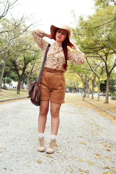 Zara shirt - asos bag - Zara shorts