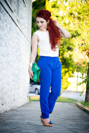vivienne westwood shoes - Massimo Dutti pants - OASAP necklace