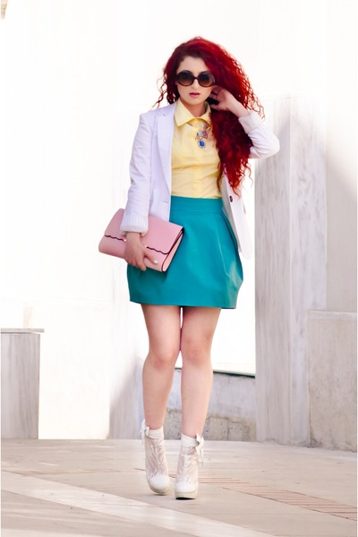 vintage shirt - OASAP bag - Zara skirt